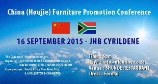 CHINA (Houjie) Furniture Promotion Conference – Johannesburg