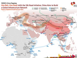 China's One Belt, One Road. Infographic courtesy of Mercator Institute.