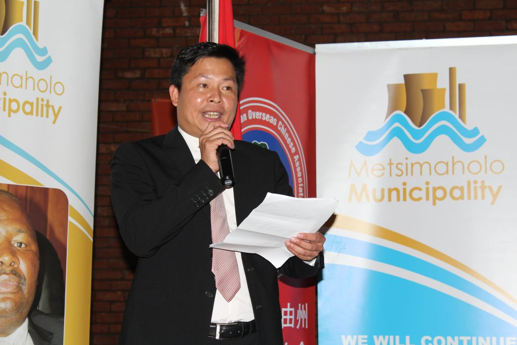 Mr Jimmy Shi delivers his speech at the 2016 Nelson Mandela Day Donation Ceremony