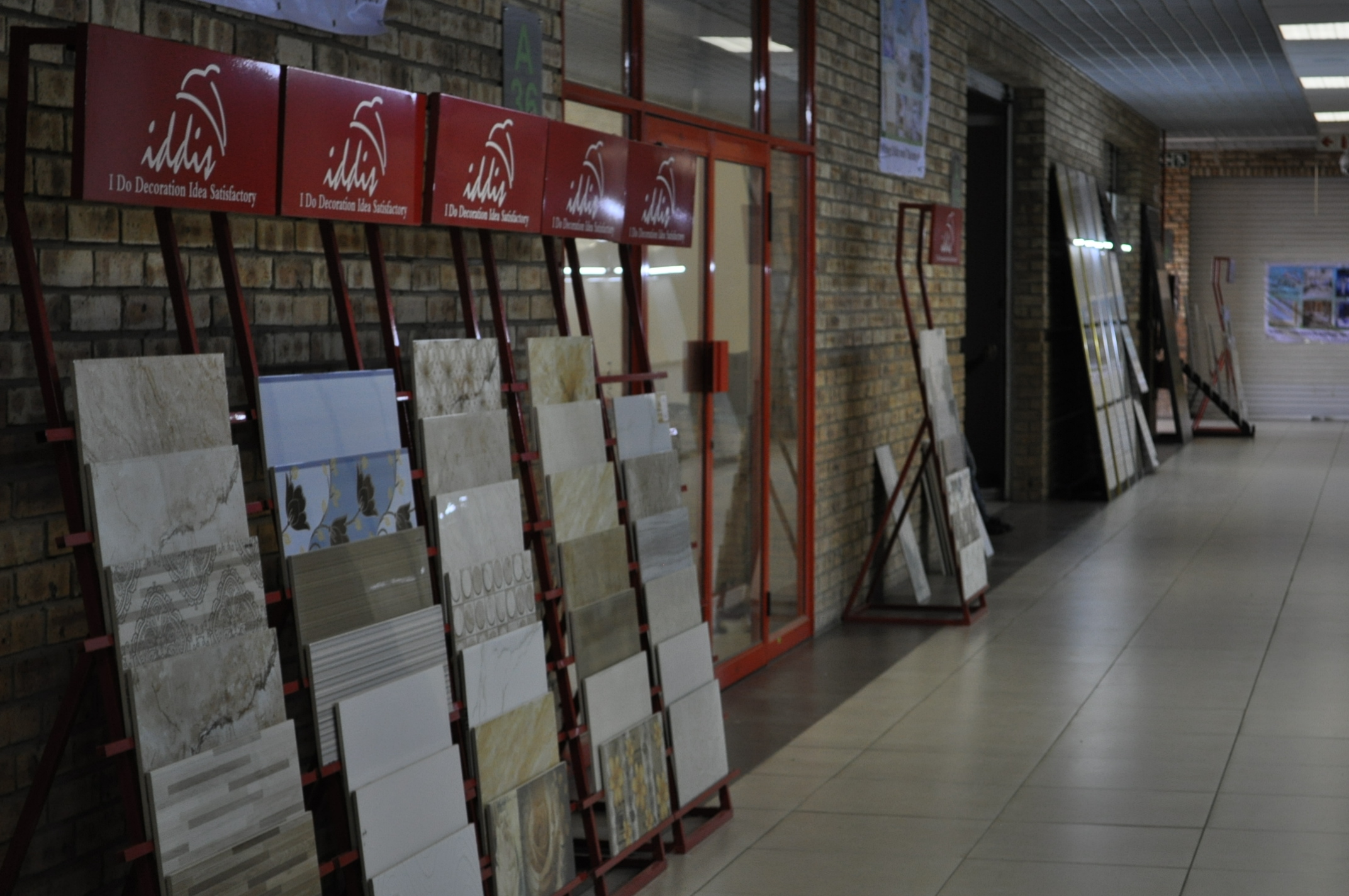 Iddis Building Material is based at China Southern Africa Expo and Trade Centre in Joburg.