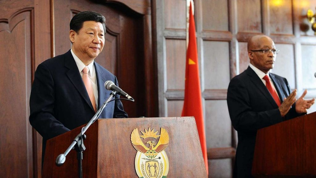 President Jacob Zuma and Chinese President Xi Jinping.
