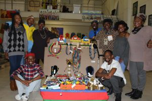 Soweto Art and Crafts at the China Trader Expo showing off their products.