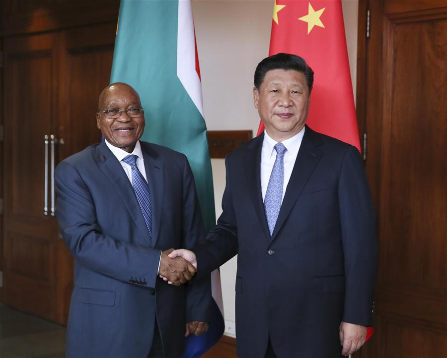 South Africas President Jacob Zuma and Chinese President Xi Jinping.