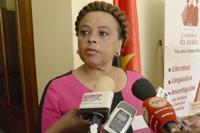 Angolan Culture minister, Carolina Cerqueira.