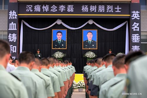 Chinese peacekeepers, Li Lei and Yang Shupeng who died in Juba.