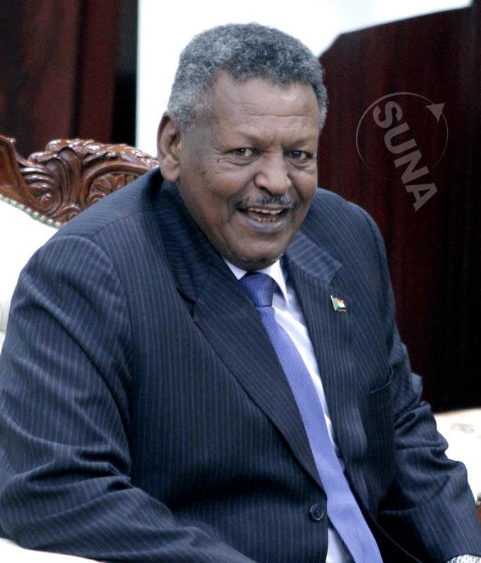 Sudan's First Vice-President Bakri Hassan Saleh.