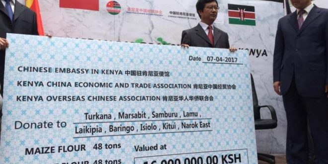 China donates Sh16 million for drought-Struck victims