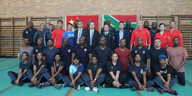 Joburg MMC for Public Safety Michael Sun welcomes Chinese police trainers to JMPD